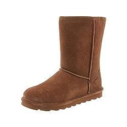 professional BEARPAW Elle Women's Short Winter Boots, Hickory (10)