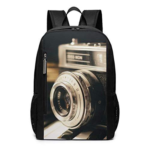 AOOEDM Bolsa para la Escuela Backpack 17 Inch Cámara de fotografía Antigua Mochila para portátil de Viaje al Aire Libre Accesorios de Viaje, Mochila de Moda Adecuada para 17 Pulgadas