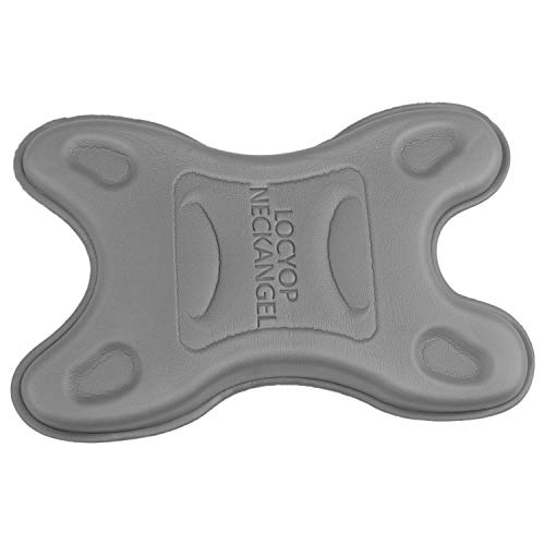 Gesh 1 almohada de EVA para el cuello, masajeador de cuello, columna cervical, almohada elástica de tracción para aliviar el dolor de cabeza y hombros (gris)