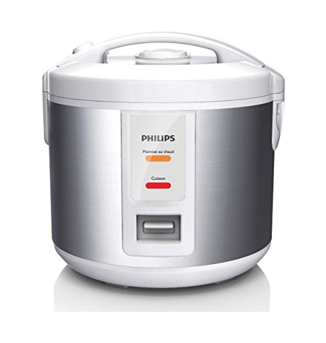 Philips Daily Collection HD3011/08 - Arrocera (Plata, Blanco, 1 L, 720 min, 1,2 m, 3,1 kg, 500 W)