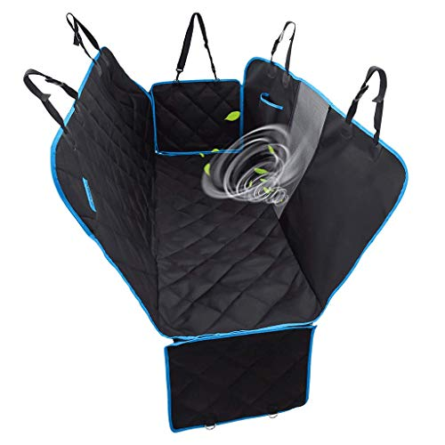 Car Seat Cover Dog, Waterproof Durable Anti-Scratch Nonslip Pet Car Seat Protector Cover Dog Travel Hammock with Mesh Window and Side Flaps for Cars Trucks SUV