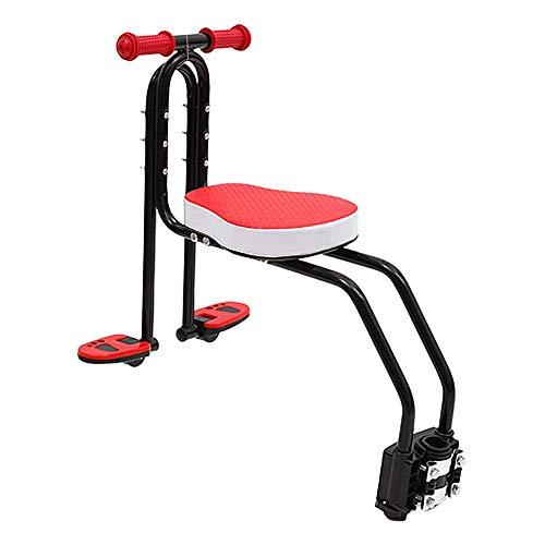 Freedomanoth Afneembare fiets voorstoel kinderzitje fietskinderzitje voor kleine kinderen modieuze opvouwbare en verstelbare pedalen voor kinderen 2,5 tot 6 jaar