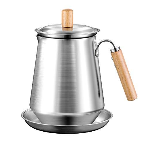 Chihee Multifunción Olla colador Lata de Almacenamiento de Aceite Retro Acero Cepillado sin Manchas Envase con Filtro de Malla Fina Tapa a Prueba de Polvo Placa Antideslizante Herramientas de Cocina