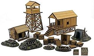 War World Gaming Jungle Warfare - Campamento Militar en DM y Resina - Escala 28mm Heroica Pacífico Wargaming Modelismo Contienda Militar Diorama Maqueta Wargame Miniaturas