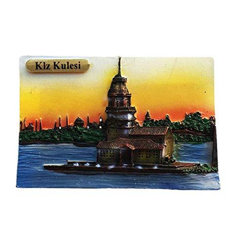 Kühlschrankmagnet mit 3D-Mädchenturm, Istanbul Türkei, Souvenir, Geschenk, Dekoration, Kühlschrank-Magnet-Sticker-Kollektion