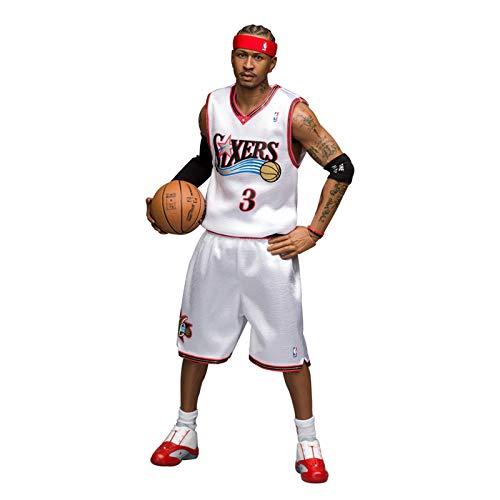 WANG NBA Basketball Star Action Figur 1/6 NO.3 Allen Iverson Spielzeugstatue Hochwertiges Modell Sammlung Dekorative Ornamente Weihnachten, Halloween, Thanksgiving