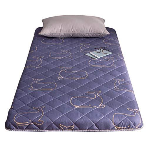 Yangdan, materasso imbottito per studenti, per letto singolo, con pinzette, protezione addensata per dormire (colore: A2, dimensioni: 120 x 200 cm)