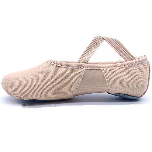 S.lemon Alta Elásticos de Lona Zapatillas de Ballet Zapatos de Baile para Niñas Mujeres Niños (42 EU)