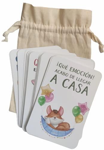 Los Eventos de la Tata. Regalo Original 40 Tarjetas de Recuerdo. Tarjetas Baby Milestone para el primer añito. Tarjetas de Fotos de Momentos Especiales del bebé