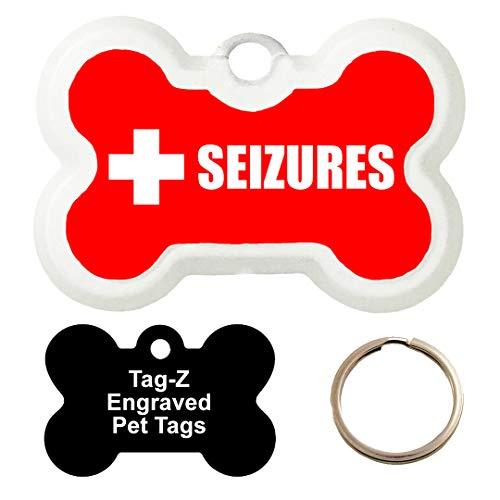 Customized Medical Alert SEIZURES Pet Tag - Bone Shape Dog Tag