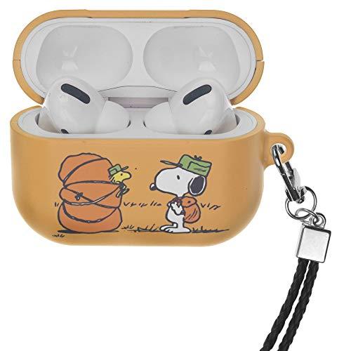 Peanuts Snoopy ピーナッツ スヌーピー AirPods Pro と互換性があります ケース ネックストラッ エアーポッズ プロ 用 ケース 硬い スリム ハード カバー (キャンプ ウッドストック 袋) [並行輸入品]
