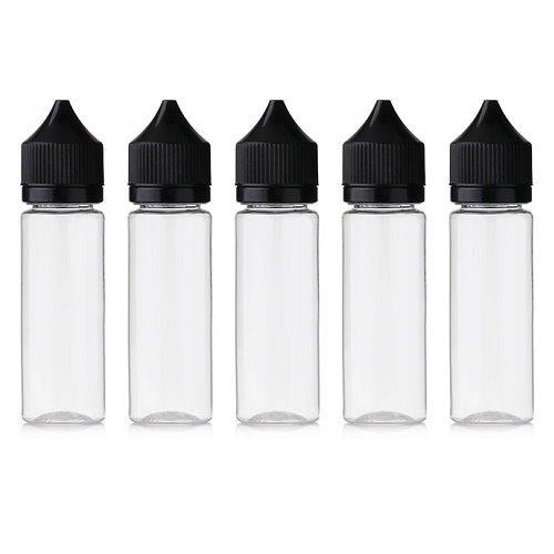 Gorilla Liquidflasche PET Liquid Base Flasche Bottle Leerflasche Fläschchen E-Zigaretten (5x - 50ml)
