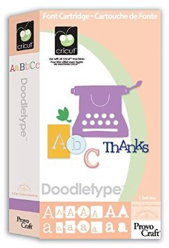 Cricut 29-0054 Doodletype Digital Cartridge & Keypad Overlay Set