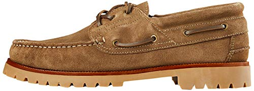 Marca Amazon - find. Leather, Náuticos Hombre, Beige(beige(sand)), 47 (US 13)