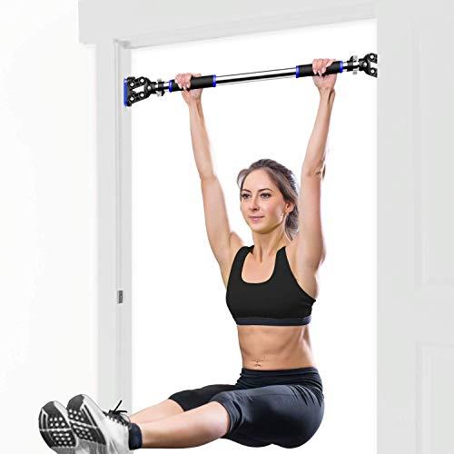 FEIERDUN Pull Up Bar with No Screws Doorway Chin Up Bar for Home Gym Workout