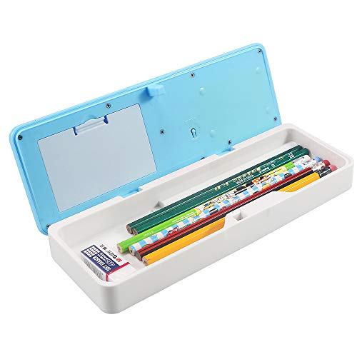HUSAN NEW Smart School Electronic Pencil Case For Students Multifunctional Password Lock Pencil Box (Blue)