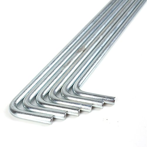 WHL 6Pc Galvanised Metal Tent Pegs - Perfect For Ground Sheets, Gazebos, Football Nets and Windbreaks
