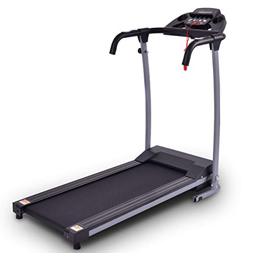 Depointer Folding Treadmill Electric Motorized Power Fitness Running Machine with LED Display and Mobile Phone Holder, Perfect for Home Use
