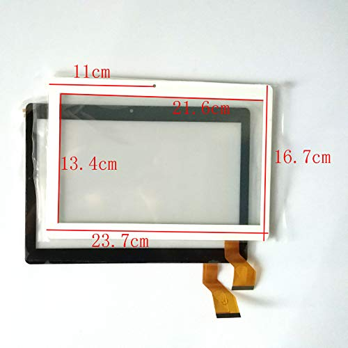 EUTOPING Negro Color Nuevo 10.1 Pulgadas Pantalla tactil Digital La sustitución de para 10.1' Dragon Touch K10 Camera Hole 11cm