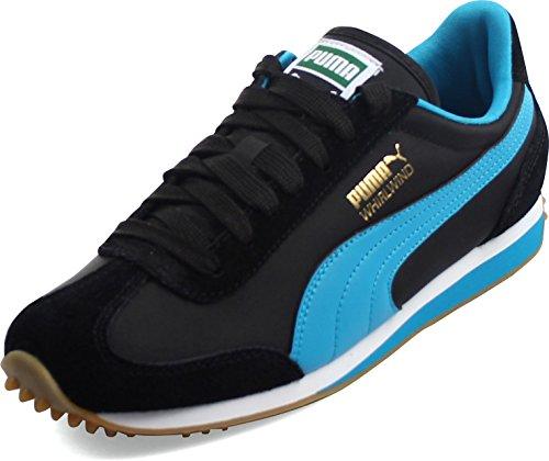 PUMA Men's Whirlwind Classic Black/Blue Jewel/White Sneaker 4.5 D (M)