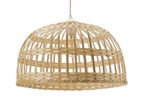 Luminaire Phuket 60, suspension bambou, 60 W, naturel, ø 60 x H 33 cm