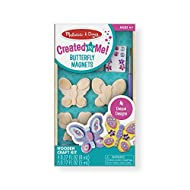 ALL-INCLUSIVE DECORATING KIT: The Melissa and Doug Created by Me! Butterfly Magnets Arts and Crafts set is a fun-to-create decorative magnet set. It includes preassembled wooden magnets, paints, stickers, plastic gems, glitter glue,and a brush. HELPS...
