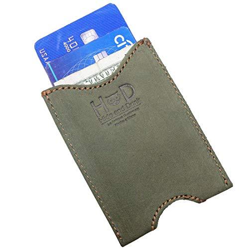 Hide & Drink, Rustikale Ledertasche, für einfache Reisende, Pendler, Kartenhalter, handgefertigt, Torfmoos