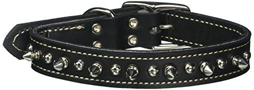Coastal Pet Products - Collar para perro de piel bronceada de doble capa, 1 x 18 pulgadas, color negro