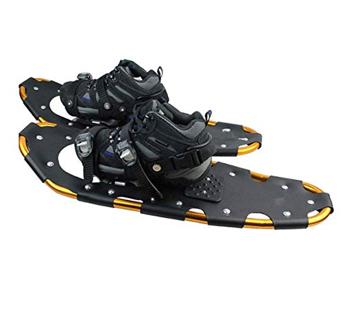 YHXF Raquetas De Nieve, 22 Pulgadas, Unisex, Raquetas De Nieve, Ligeras, Antichoque, De Aleación De Aluminio, Mini Zapatos De Esquí para Montañismo Y Juegos De Nieve