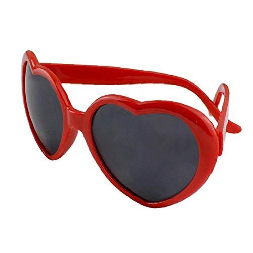 Las Mujeres' s Forma de la Manera Verano Divertido Gafas de Sol de diseño Creativo del Amor del corazón Gafas de Sol Rojo Perfecto Regalo