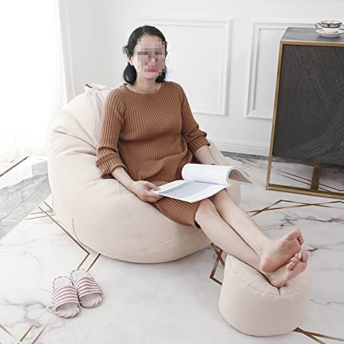 Bean Bag Gamer Chair Storage Soft Toy Adult Highback Beanbag Large Bean Bag Chair for Indoor And Outdoor Use(Without Inner Sleeve),Khaki,65 * 75cm