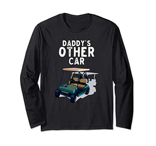 Das andere Auto des Vaters Golfclub-Spieler-Golfmobil Langarmshirt