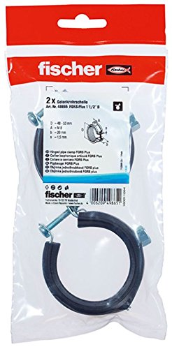 Fischer 49865 - Gelenkrohrschhelle fgrs más 1 1/2 pulgadas b sb-sam,