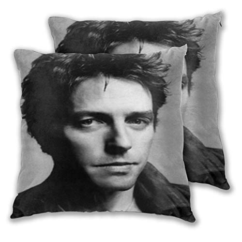 Funda de Almohada Hugh Grant Square Pillow Covers Set of 2, Soft and Cozy Throw Pillow Covers 3D Printed Pillowcase Suitable for Inside and Outside 20