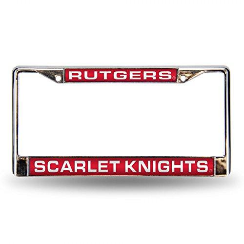 Rutgers Laser Etched Chrome License Plate Frame