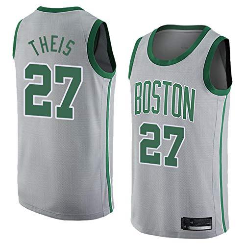 Männer Basketball Jersey NBA Boston Celtics 27# Daniel Theis Bequeme/Lightweight/atmungsaktiv gesticktes Mesh Swingman Retrot-Shirt Sweatshirt,L