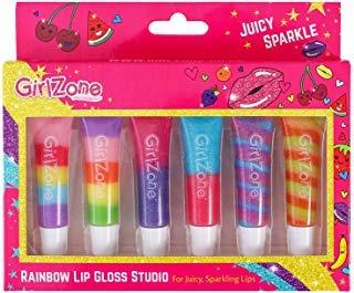 GirlZone Regalos para Niñas - Brillo De Labios para Niñas - 6 Sabores Deliciosos y Afrutados - Maquillaje Niñas - Lipgloss Ideal Cumpleaños - Regalo Niña 3 a 12 Años