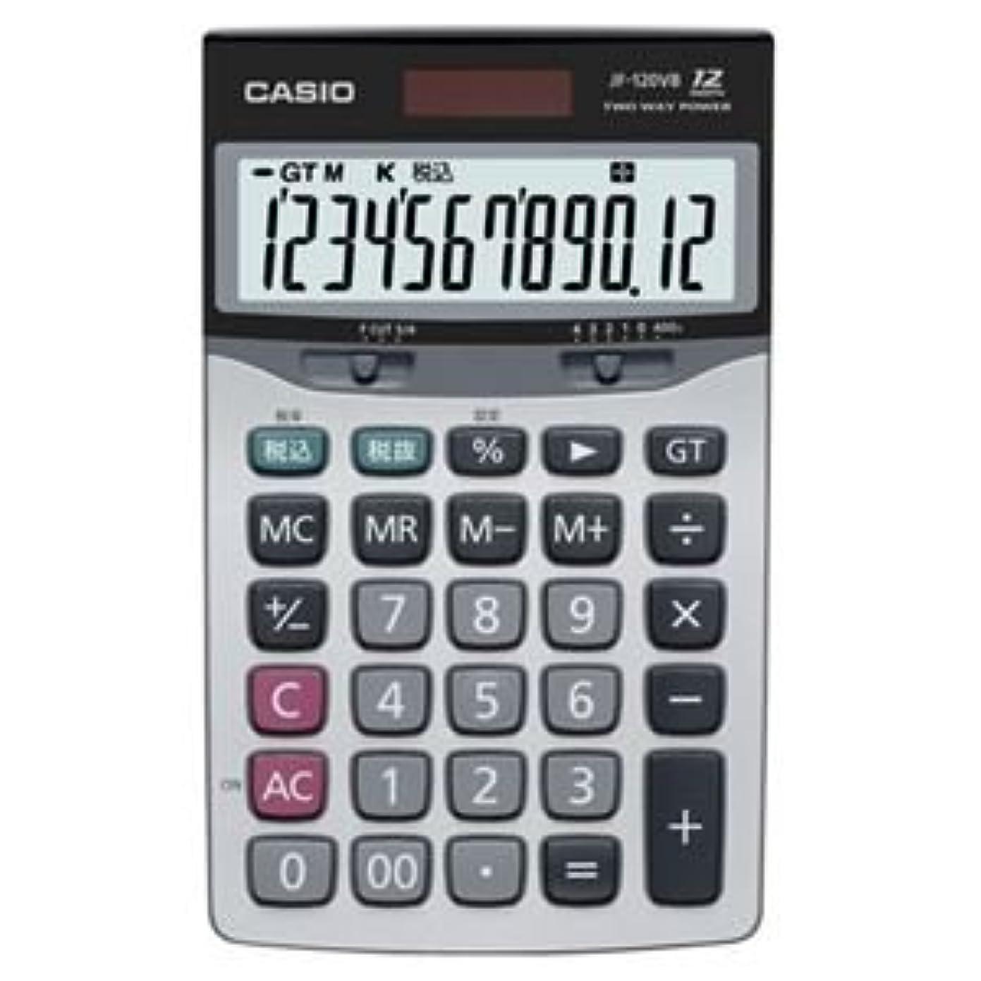 浴バター相対サイズ(まとめ) カシオ CASIO 本格実務電卓 12桁 ジャストサイズ JF-120VB-N 1台 【