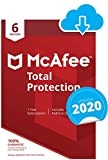 McAfee Total Protection 2020 | 6 Devices | 1 Year | PC/Mac/Android/Smartphones | Download Code