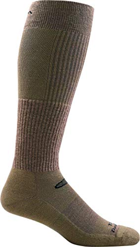 DARN TOUGH (Style T3006) Lightweight w/ Cushion Over-the-Calf Tactical Sock - Coyote Brown, Large