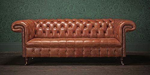JVmoebel Chesterfield Design Polster Couch Leder Sofa Garnitur Luxus Vintage Sofas #159