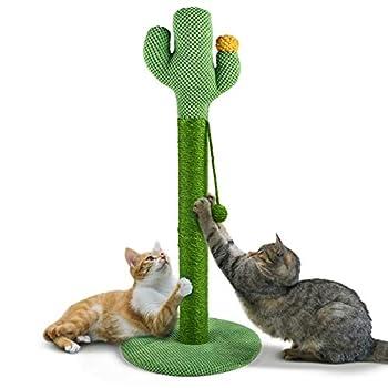 Arbre à Chat Poteaux à Griffer 84x33.5x33.5cm Tour Griffoir Solide pour Petit Chats et Gros Chats Sisal Naturel
