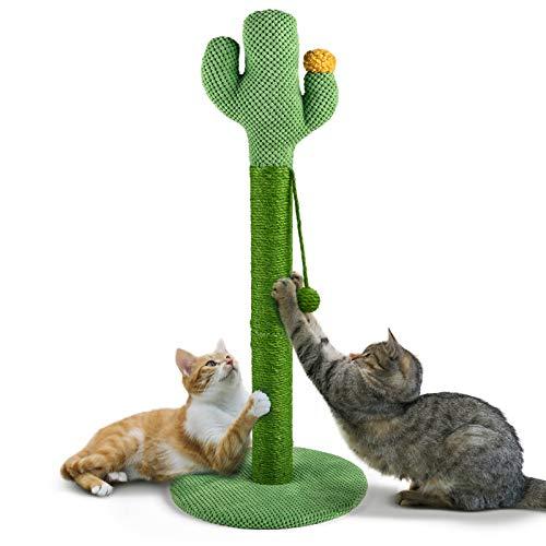 Mora Pets Kratzbaum Klein Katzenkratzbaum 84CM Tall Kratzsäule für Katzen Sisal Kratzstamm für Große Katzen Kaktus Kratzbaum