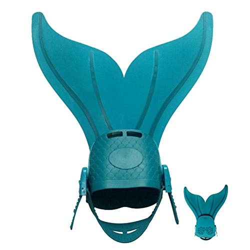 rethyrel Aletas de natación ajustables con aletas de buceo de 3 colores para niñas