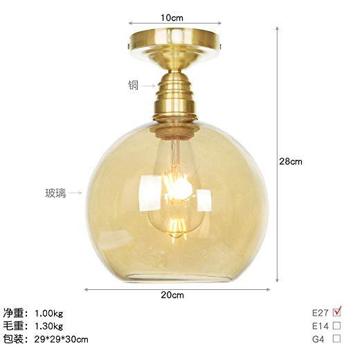 Plafondlamp van zuiver koper in Amerikaanse industriële stijl creatieve plafondlamp van puur koper Retro XT0031-200 gloeilamp barnstein_wolfraam