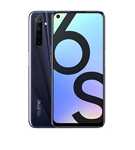 "realme 6s - Smartphone de 6.5"" con Pantalla FHD+, 4GB RAM + 64GB ROM. Procesador OctaCore Helio G90T. Cuádruple cámara AI de 48MP. 3 Ranuras para Tarjetas (2 SIM + 1 Micro SD). Negro Eclipse."