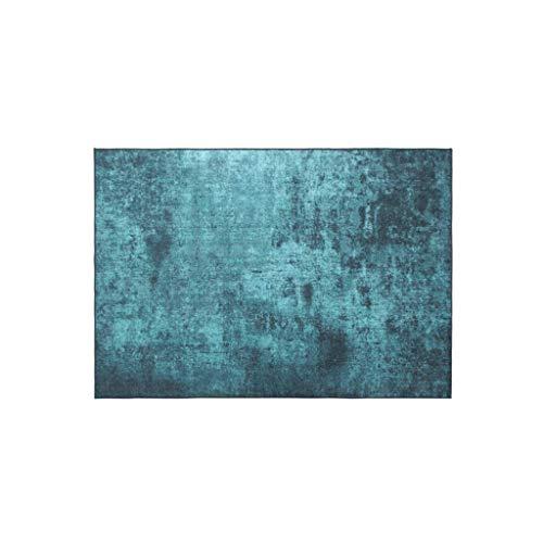 Tapis JXLBB Polyester 1.4x2m Couleur Pure Vert Foncé Nordique Vert Foncé American Retro Salon Table Basse Chambre Couverture De Chevet Épaisseur 11mm