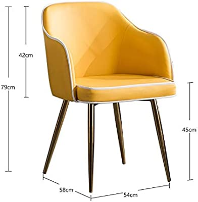 WALNUT Modern Minimalist Light Metal Chair Home Desk Hotel Dining Chair Leisure Discussion Computer Chair (Color : E)