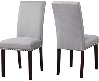 Sensational Amazon Com Chelsea Lane Upholstered Keyhole Dining Side Ocoug Best Dining Table And Chair Ideas Images Ocougorg