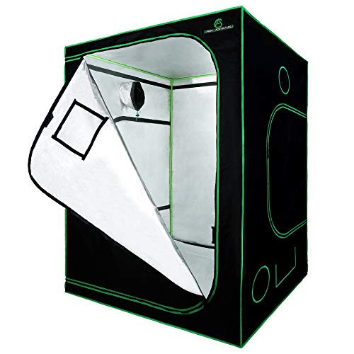 GA Grow Tent 120x120x200CM 60x60x120CM Reflective Mylar Hydroponic Grow Tent with Observation Window and Waterproof Floor Tray for Indoor Plant Growing (150x150x200cm)